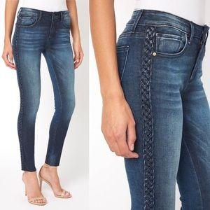 Driftwood Jackie Braided Frayed Hem Jeans
